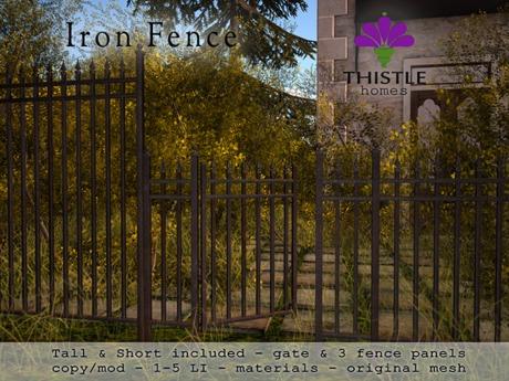 Thistle Homes - Iron Fence Set - original mesh
