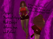 Angie's Horned Angel Red outfit