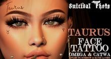 [Suicidal Thots] Taurus Face Tattoo (rez & open)