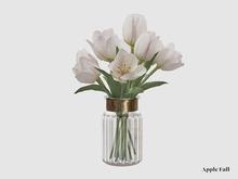West Village Spring Tulips - White