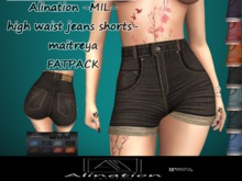 Alination-MIL-high waist jeans shorts-maitreya-FATPACK-DEMO