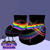 ~SWD~ Black Rainbow Music boots