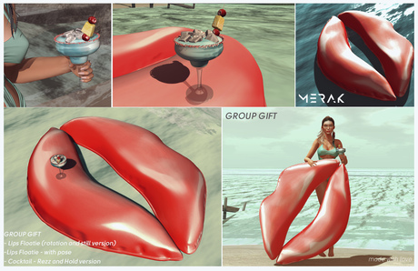 [Merak] - Lips Floatie and Cocktail GROUP GIFT