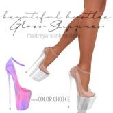 [bh] glass slippers multi 100% Mesh Maitreya Slink Belleza