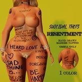 [Suicidal Thots] Resentment Marker Tattoo