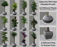 Potted House Plant, 12 Pot & 12 Plant Textures, 2 Pot Types
