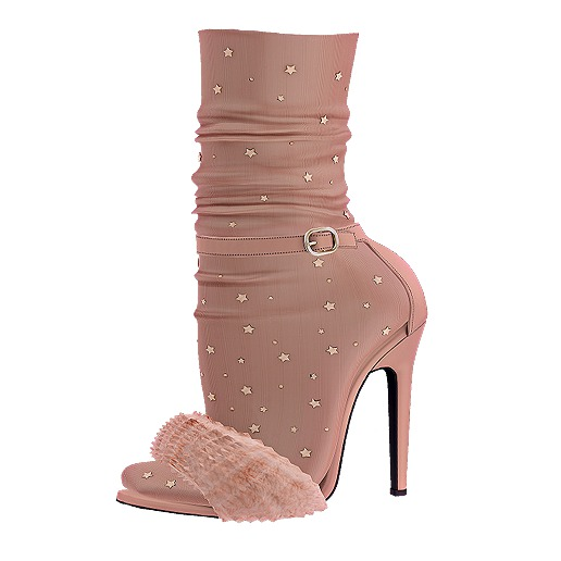 .:ENVIEE:. Goldie's Fur Heels {Nude}