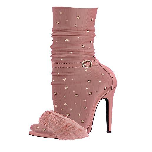 .:ENVIEE:. Goldie's Fur Heels {Blush}