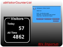 Visitor counter Visitor list Traffic display Visitor greeter