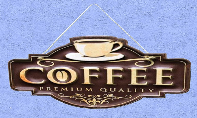 """HOME Interior Decal Kitchen Alpha Wall Art """"COFFEE"""" Crafted Plaque Home Decor Designs House Furnishings copy/mod 1 Prim"""