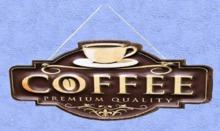 """HOME Interior Wall Art """"COFFEE"""" Hanging Alpha Crafted Plaque Decor Designs House Furnishings copy/mod 1 Prim PROMO SALE"""