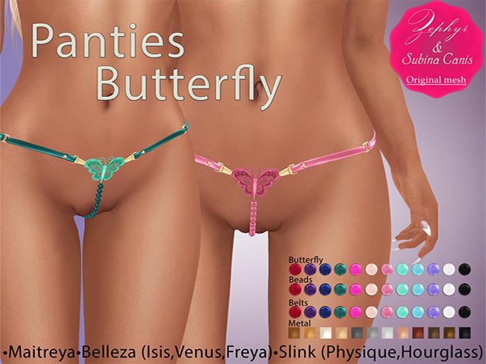 """Zephyr"" Panties Butterfly"