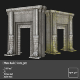 {-Maru Kado-} Stone gate