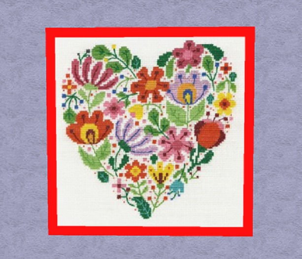 Second Life Marketplace Home Interior Wall Art Needlepoint Heart Flower Red Frame Hand Craft Decor House Furnishing Copy Mod 1 Prim Promo Sale