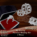 *Milady's* -My Destiny- Platinum Wedding Rings Set