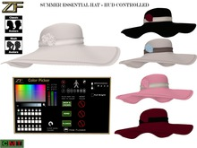 Zuloo - MESH Summer Essential Hat - HUD Controlled