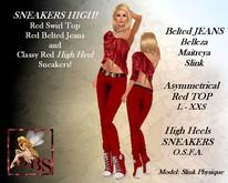 *DBS* Ladies Outfit - Sneakers High! RED