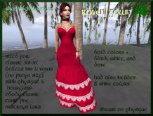 =<SB>=Bold Color Raven Gown