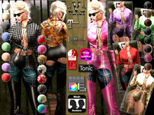 V-Twins - Casual Clothes - Hunger Color Version **MESH Top & Jeans [Mesh Body Compatible] Maitreya Slink & Belleza