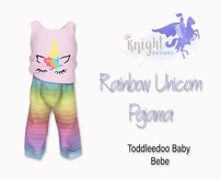 [KNIGHT DESIGNS] RAINBOW UNICORN PAJAMA - TD BABY & BEBE