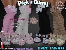 [PPD] Peek A Bunny Slippers & Legwarmers