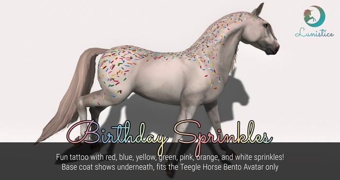 Lunistice: Birthday Sprinkles - Teegle Tattoo