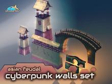 solares >> Asian Feudal Cyberpunk - Walls Set