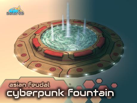 solares >> Asian Feudal Cyberpunk - Fountain