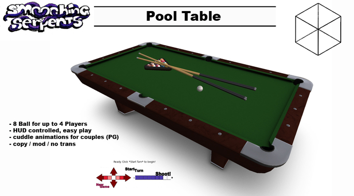- Pool Table - realistic Billiards - Game for up to 4 Players (PG)