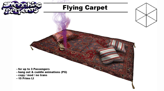 - Flying Carpet - up to 3 Passengers, animated (PG)