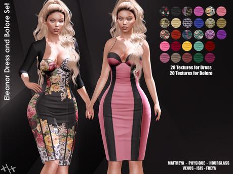 Second Life Marketplace Hh Eleanor Dress And Bolero Set