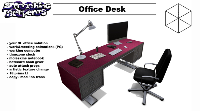 - Office Desk - SL office solution, scripted & animated (PG)