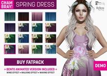 !Chambray Spring Dress [Eggplant]