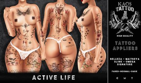 KAOS ACTIVE LIFE TATTOO
