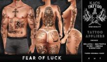 KAOS FEAR OF LUCK TATTOO