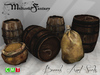 [MF] Medieval barrels and food sacks props (boxed)