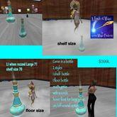 Genie In a Bottle floor & shelf version-bag