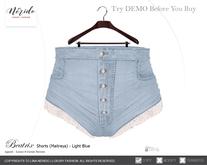 ~Nerido~ Beatrix Shorts (Maitreya)-Light Blue