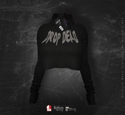 Goth1c0: Cropped Sweater - Drop Dead