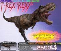 "T-REX ""REXY"" TYRANNOSAURUS {GENETIC EDITION}  ~ Bento Mesh Dinosaur Avatar ~ Prehistorica the Dawn Kingdoms ~"