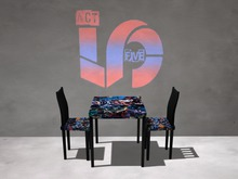 ACT5 Batman Table & Chairs BOXED