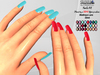 [SuXue Mesh] FATPACK N1 Bento Rigged Nails Slink Maitreya Lara Hud Different or same 24 Colors on the R & L fingers