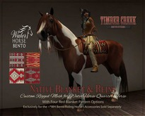 [Timber Creek] Native Blanket & Bridle Set for QH/WB-Reds-Boxed