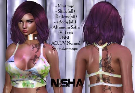 Nisha - Back straps top FULL PERM