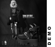 Goth1c0: DEMO Karma Ankle Boots for Slink Flat Feet