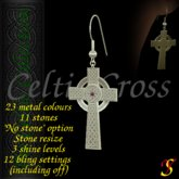 *YS* Celtic Cross scripted earrings