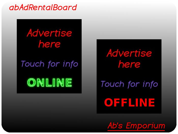 Advert Rental Board - Self service adboard