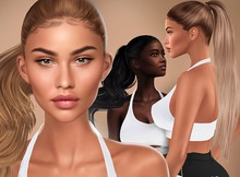 ItGirls - Sporty Hairbase + Ponytail (Catwa, Genus&Lelutka) NATURALS