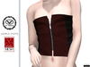 """Leather Top """"Ceri"""" flat-chest TwoSided for V-tech+Simple Stuff+Slink Petite"""
