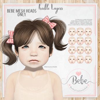 Bebe Mesh Head Freckle Layers